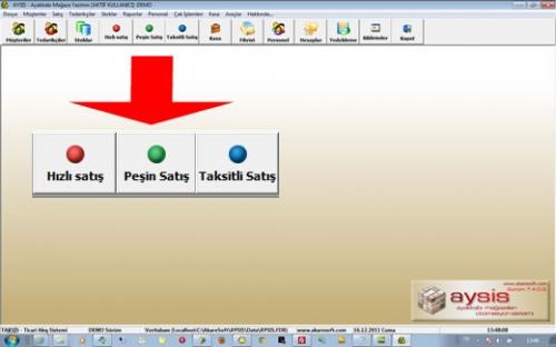 AYSİS Ayakkabı Mağaza Otomasyonu Ana Ekranı  Bu ekranda STOK, CARI, KASA, FATURA bölümlerine ulaşılarak kolayca erişilebilinmektedir.