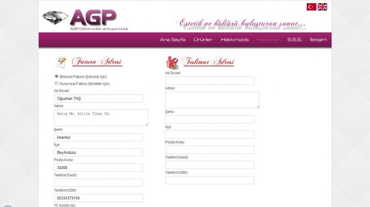 E-Ticaret Sitesi Fatura Adresi