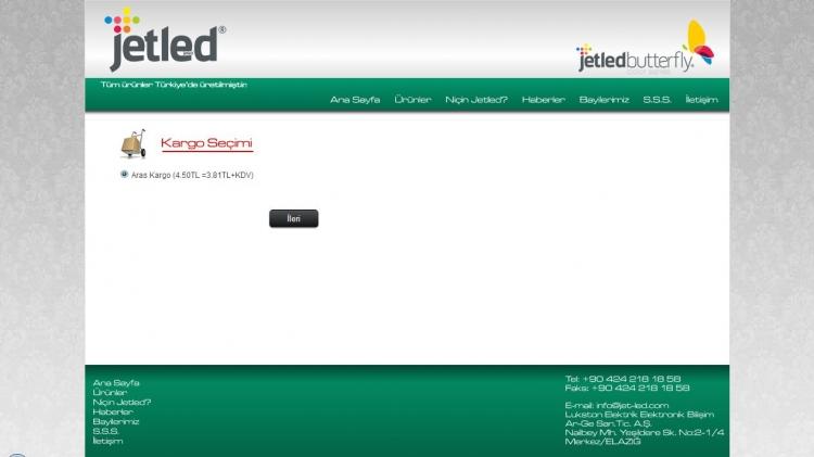 E-Ticaret Sitesi Kargo Seçimi
