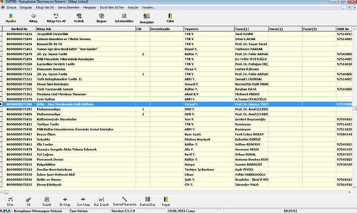 KÜPSİS Kütüphane Otomasyonu Kitap Listesindeki alan başlıklarına tıklarsanız kayıtlar otomatik sıralanır.